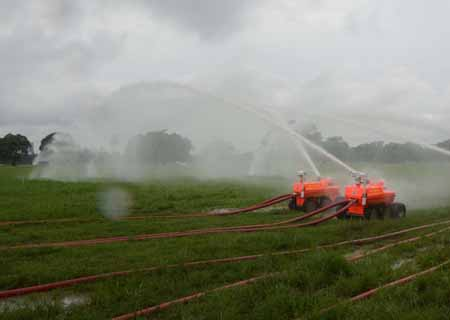 Kolkata: West Bengal Fire and Emergency Services conduct acceptance tests of the four newly inducted robotic fire fighting equipments introduced in fire services for the first time, at Brigade Parade Ground in Kolkata on Aug 6, 2020. (Photo: Kuntal Chakrabarty/IANS)