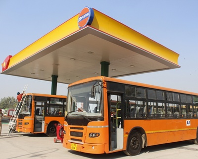 "New Delhi: Union Petroleum and Natural Gas and Steel Minister Dharmendra Pradhan  virtually inaugurated the ""HCNG or H2CNG (hydrogen compressed natural gas) Plant Dispensing Station at Rajghat Bus Depot in New Delhi on Oct 20, 2020. (Photo: IANS)"